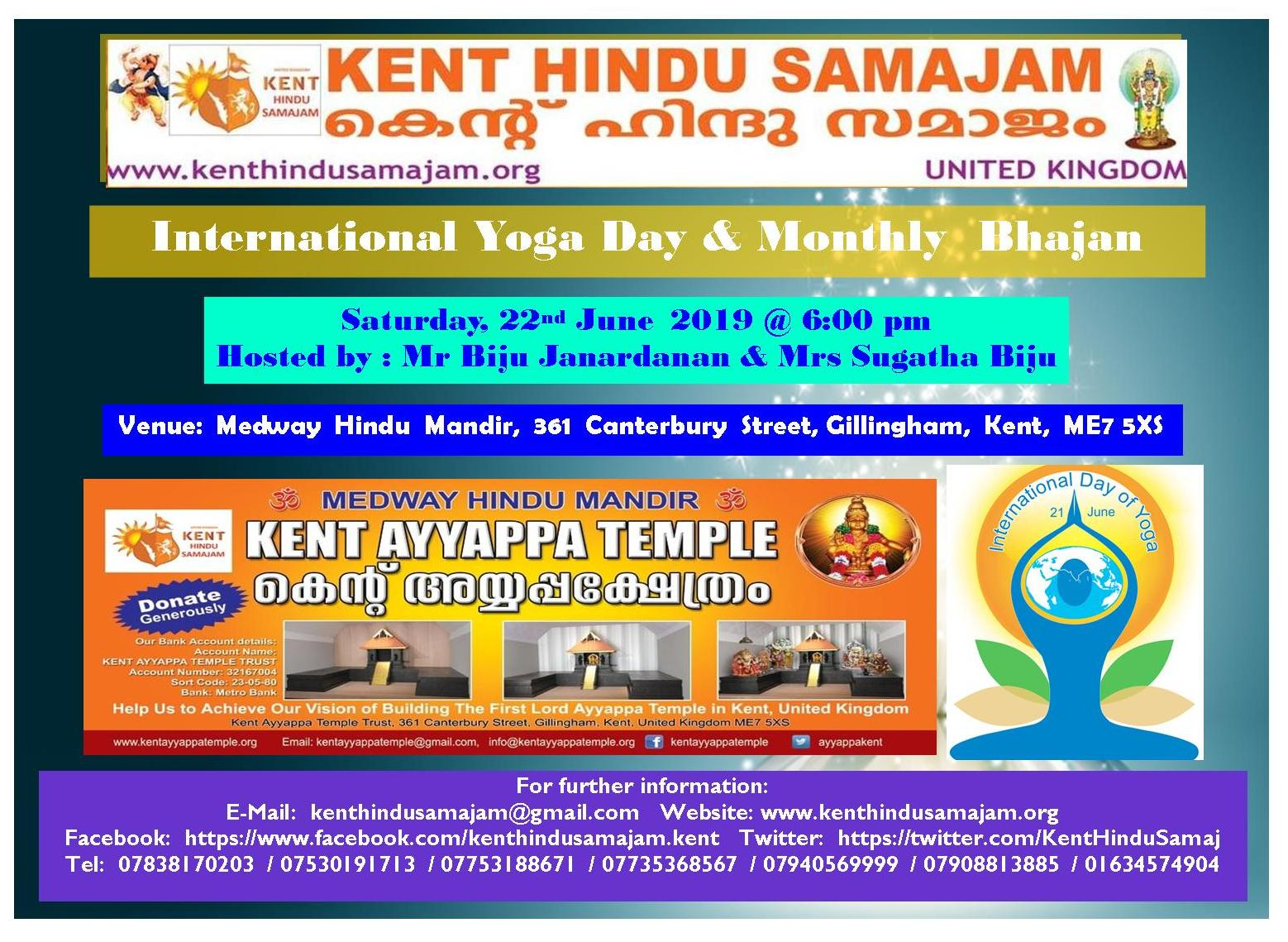 June 2019 Kent Hindu Samajam Flyer
