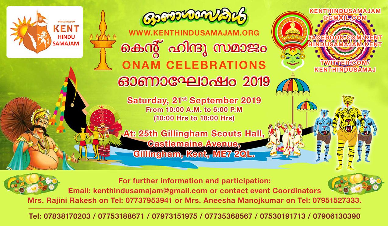 Onam 2019 Kent Hindu Samajam in Sep-2019